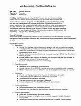 Job Description Benefits Manager